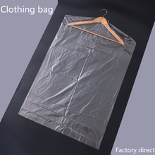 10pcs/Lot Plastic Transparent Dust Cover Garment of Clothes Hanging Pocket Storage Bag Wardrobe Hanging Clothing clothes shop(China)