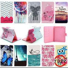 Print pattern Wallet Leather Stand Flip Case For Apple Ipad mini & mini 2 & mini 3 Cover Tablet Accessories KF469D(China)