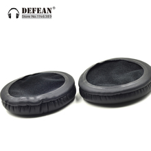 Black leather Ear pads earpad cushion for SteelSeries Siberia Neckband HeadsetFree shipping alistore(China)