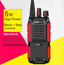 New Baofeng BF-K5 Professional Walkie Talkie 5W Power Portable Two Way Radio UHF 400-470MHz Ultra-Slim Push To Talk From Russia