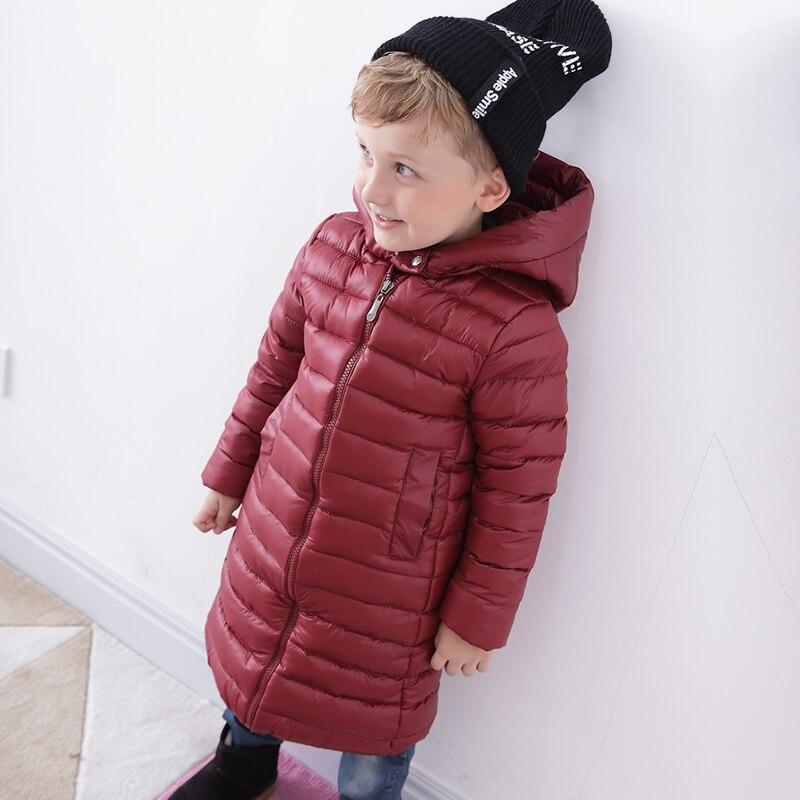 Children wear down jacket sleek boy girl winter coat jacket in the long section of the babyÎäåæäà è àêñåññóàðû<br><br>