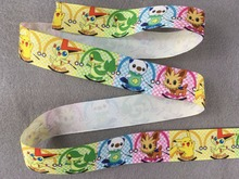 H-GOODS 3/8 inch 9mm 160807-70 pokemon go printed grosgrain ribbon 50yds/roll free shipping for hair bows headband