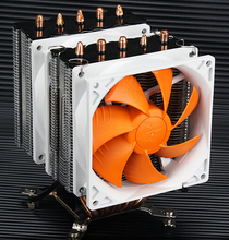 For AMD Intel CPU 5 copper heat pipe quiet towers dual Cooling fans radiator supports 775/1150/1155/1156/1366 AM2 AM3 FM2