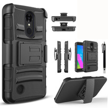 YUMQUA Cover Case For LG Aristo / LV3 MS210 G Phoenix 3 Heavy Duty Kickstand Phone Case with Belt Clip Holster For LG K8 2017(China)