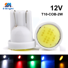 100 Pieces/Lot T10 194 168 W5W 6led t10 cob led white 2W High Power LED Car Door Headlight Indicator Reading Driving Light Bulbs(China)