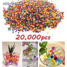 Abbyfrank 20000 PCS Colorful Crystal Bullet Soft Water Gun Paintball Bibulous Bullet Orbeez Gun Accessories Pistol For M4 Gun(China)