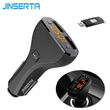JINSERTA MP3 Player Wareless Car Kit Bluetooth Handsfree FM Transmitter Modulator LCD with USB Charger for iPhone Samsung Phone
