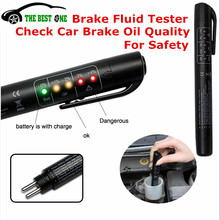 Full Tracking 2016 New Brake Fluid Lipuid Tester 5 LED Car Vehicle Automotive Test Oil Pen For DOT3, DOT4, DOT5 Free shipping