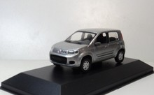 Original factory N 1:43 FIAT UNO 2012 Silver grey boutique alloy car toys for children kids toys Model freeshipping