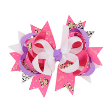 2017 New Products hair clip 6 colors 12*10cm Swallowtail bow Cartoon Hairgrips Hair Accessories  HC098