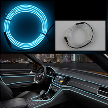 1-10 M Atmosphere Lamps Car Interior Light Car Ambient Light Cold Light Line DIY Decorative Dashboard Console Door Car Styling