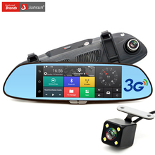 "7"" 3G Car Camera DVR GPS Bluetooth Dual Lens Rearview Mirror Video Recorder Registrar FHD 1080P Automobile DVR Mirror Dash cam"