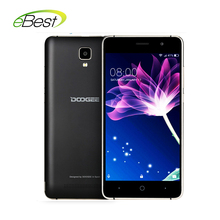 original Doogee X10 mobile phone 3360 mAh Battery 5.0 Inch MTK6570 Dual Core Android 6.0 512MB RAM 8GB ROM 5MP Camera smartphone