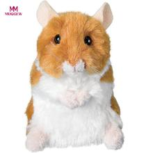 Talking Hamster Electronic Pet Talking Plush Buddy Mouse for Kids brinquedos playmobil baby toys jouet enfant(China)