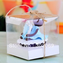 Free Shipping Single Plastic Boxes Transparent Boxes PP boxes With Inster and Jute 24pcs