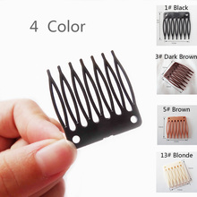 50 Pacs/lot plastic wig clips and combs for making wigs full lace /lace front black brown color many in stock Wholesale