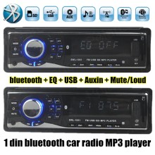 new arrival 1 Din 12V Car Stereo Radio MP3 Player Built in Bluetooth Phone Audio FM/USB/SD/Auxin bass/treble(China)