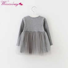 Kids Girls Princess Dresses Infant Dress Newborn Girls Clothes Baby Cotton Long Sleeve Clothing 0-4 Years(China)