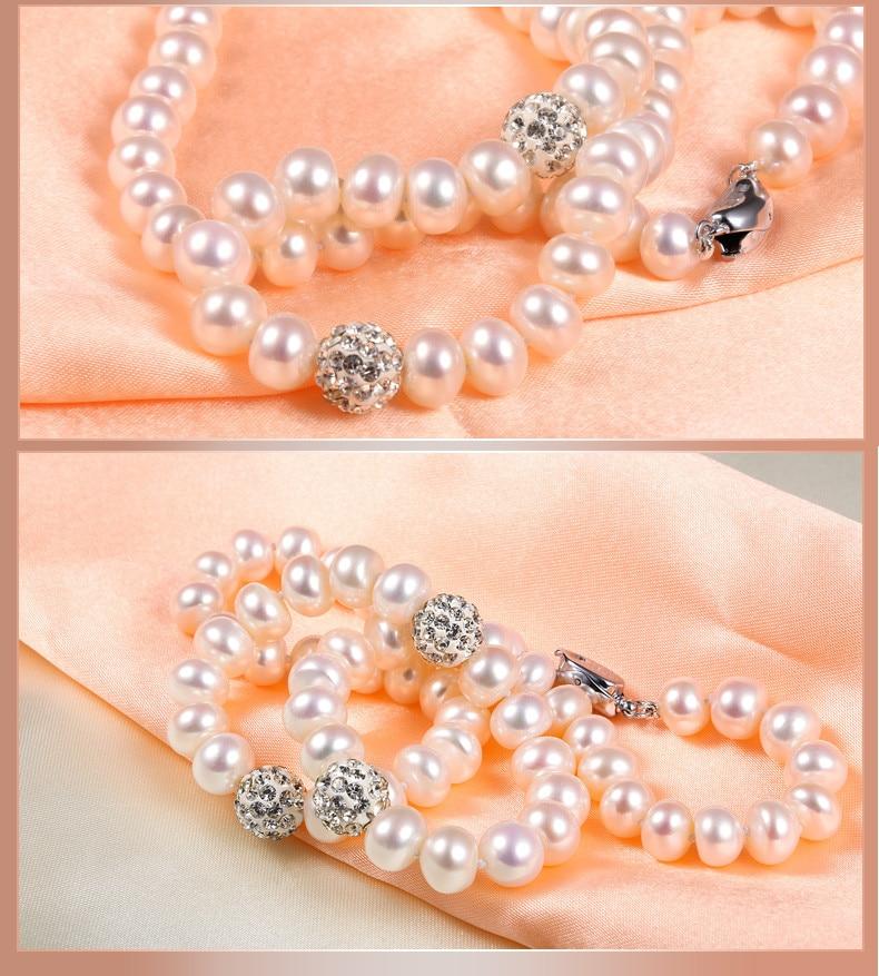 HTB17CNGLVXXXXcwXpXXq6xXFXXXO - YIKALAISI 2017 100%Natural Necklace Pearls Jewelry Crystal Ball 925 sterling Silver Jewelry 45cm For Women Best Gifts