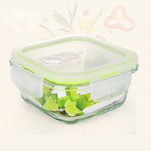 Modern square Borosilicate Glass Food Container Lunch Box Bento lunch box fruit vegetable food Microwavable fresh preservation