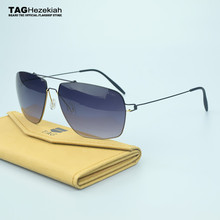 2017 titanium fashion sunglasses women men TAG brand designer Retro Classic Ultra-light elasticity sun glasses oculos de sol fem(China)
