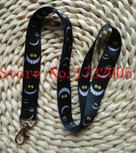 New 1 Pcs  Cartoon  Alice in Wonderland Cat  Cello Phone key chain  Neck Strap Keys  Lanyards Free Shipping G-1