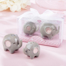 Baby shower gift Mommy and Me Little Peanut Elephant ceramic Salt and Pepper Shaker Wedding Favors 80SETS Free FEDEX
