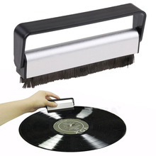 Antistatic Carbon Fiber Vinyl Record Dust Cleaner Brush Turntable Fibre Cleaning CD Brush(China)