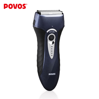 POVOS Men Rechargeable Electric Shaver Fully Washable Triple Blade EU Plug Personal Care Razor Shaving PS8108