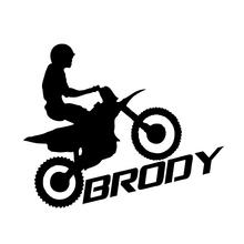 HotMeiNi Dirt Bike Sticker Custom Name car window sticker pick your color motocross Vinyl Decal