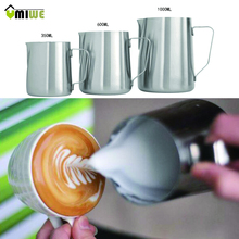 1000ml Japanese-style Frothing Pitcher Milk Tea Cappuccino Coffee Pull Flower Cup Thicken Stainless Steel Milk Frothers Mugs(China)