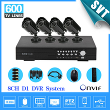 NVR CCTV H.264 Real Time 8CH Network DVR kit with 4PCS Day Night vision outdoor Security Camera Surveillance kit SNV-32