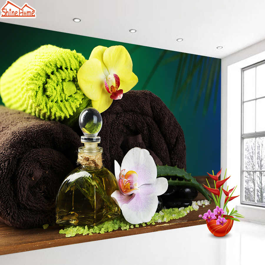 ShineHome-Large Wallpapers for 3 d Living Room Mural Roll Walls Paper Massage SPA Salon