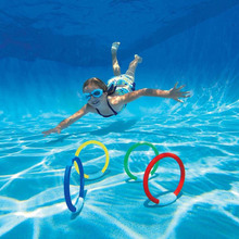 4Pcs Dive Rings Swimming Pool Diving Game Summer Kid Underwater Diving Ring Sport Diving Buoys Four Loaded Throwing Toys 05