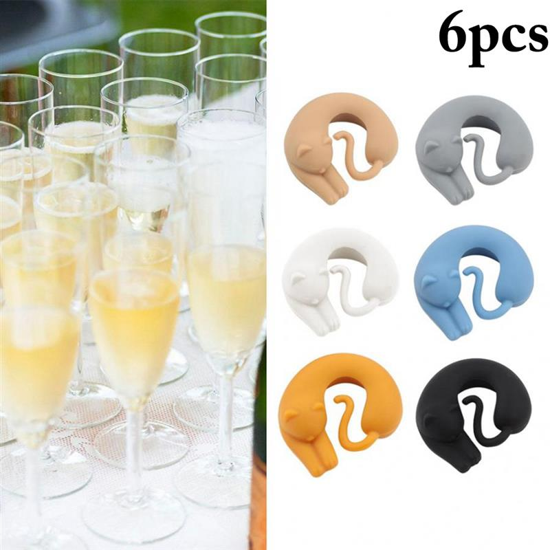 8 pcs Wine Glass Marker Reusable Creative Drinks Sign for Cocktail Hours Dinners