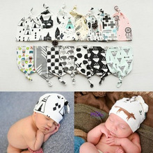 Cotton Baby Hat Scarf Kid Hats Unisex Beanie Star Toddlers Baby Newborn Children Caps collars Photography Props Accessories
