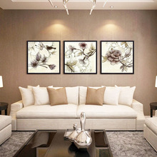 Vintage Flower Canvas Painting Floral Poster Prints Home Decor Modern Furniture Adorned Painting Artwork for Family No Frame(China)