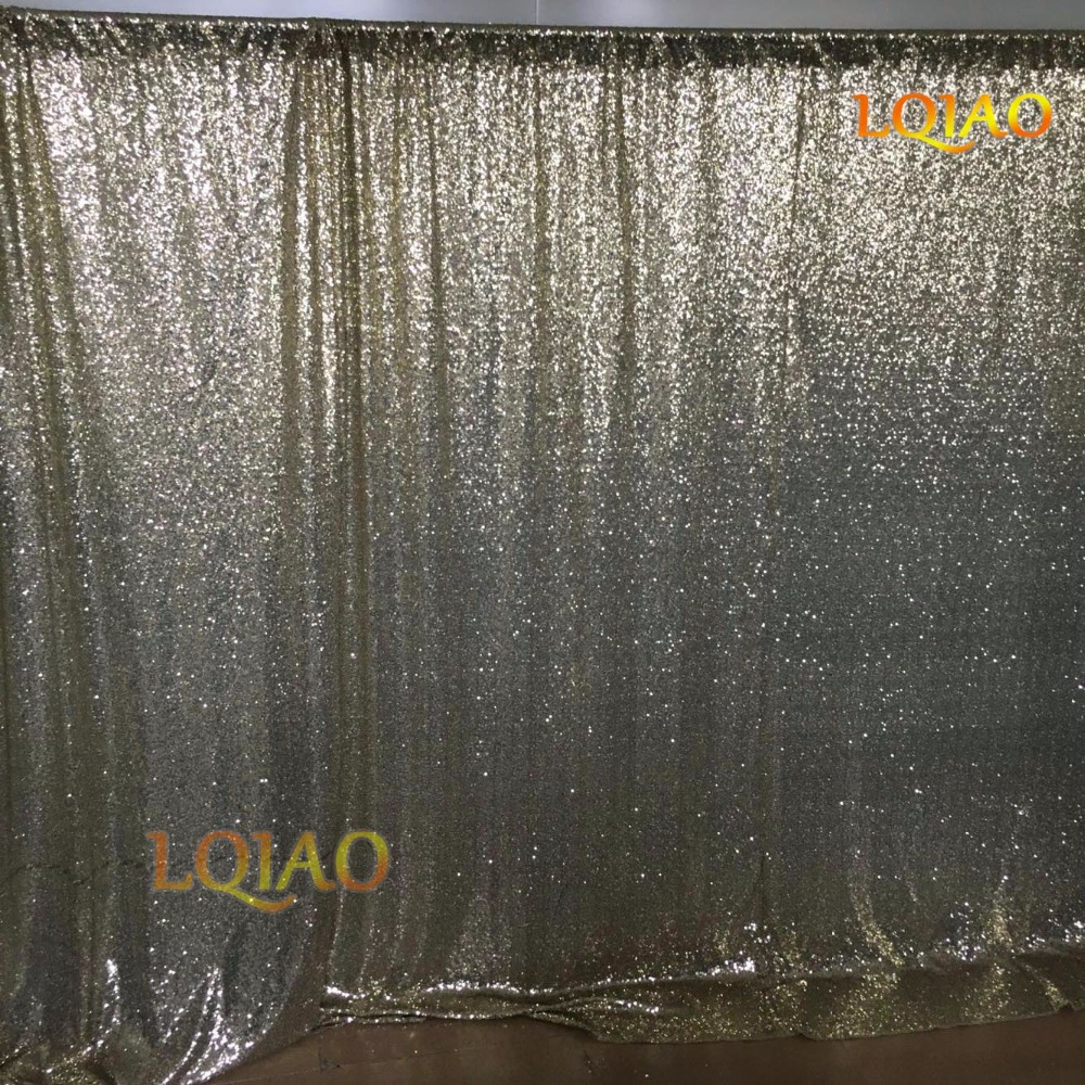 Light Gold Sequin Backdrop-007