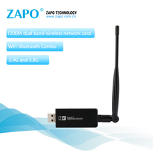 ZAPO 1200Mbps Wireless AC USB 3.0 Bluetooth 4.1 Adapter Add 5.8G WIFI 5dbi Antenna Network Card For All Windows Linux Android(China)