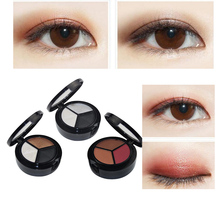3Colors Eyeshadow Makeup Palette Naked Matte Eye Shadow Cosmetic Set Glitter White Gold Pearl Eyeshadow Natural Eyes Makeup
