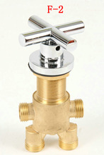 Shower room mixing valve, Brass bathtub set of taps for hot and cold water, switch shower valve, 3pcs shower faucet mixer(China)