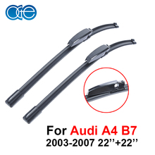 Oge Pair Windscreen Wiper Blades For Audi A4 B7 2003 2004 2005 2006 2007,Fit Windshield Solf Rubber Wipers Arm,Car Accessories