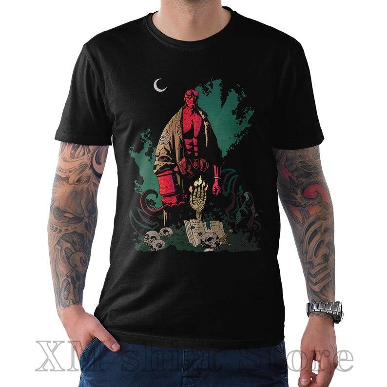 Hellboy II Movie HELLBOY HEAD Licensed Adult Long Sleeve T-Shirt S-3XL