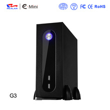 Realan G3 Silver Mini ITX Desktop Tower With Power Supply, 6 COM Ports SGCC 0.5mm Computer Tower Case