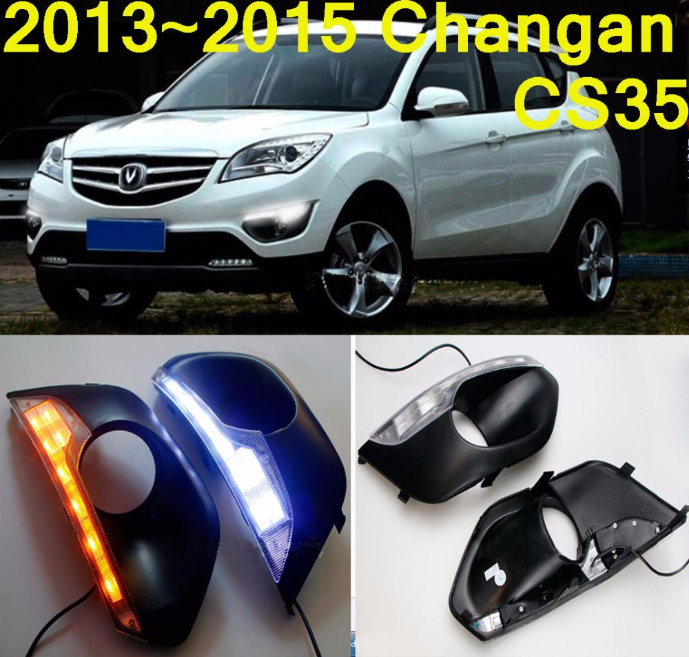 Car-styling,ChangAn CS35 daytime light,2014~2016,LED,Free ship!2pcs,car-detector, CS35 fog light,car-covers,Chang An,CS 35<br>