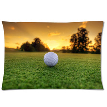 "Golf Ball Rectangle Pillow Case 20""x30""(Two side) Decorative Pillow Cover Custom Pillow Slip Christmas Gift"