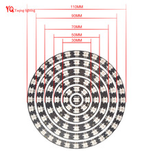 WS2812B 93 Bits LEDs 5050 RGB addressable ring round LED pixel Lamp Light with Integrated Drivers DC 5V(China)