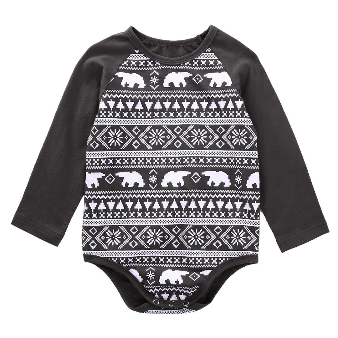 5e7de3c8c03 Detail Feedback Questions about 0 18M Infant Toddler Newborn Baby Boys Girls  Unisex Bears Christmas Casual Clothes Bodysuit Jumpsuit Outfits on ...