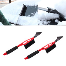 Wholesale Cheap Car Vehicle Snow Ice Scraper SnoBroom Snowbrush Shovel Removal Brush Winter Car Windows Clean Tools Accessories(China)