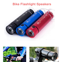 New Travel Bike Flashlight Speakers Outdoor Sport FM Radio USB LED TF Card Climbing Speaker Handsfree with Bicycle Holder
